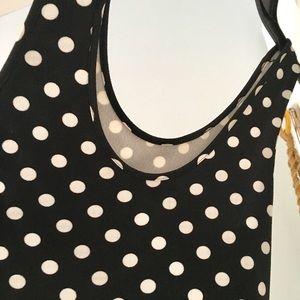 Annabelle Dresses - Polka Dot Scoop Neck Sleeveless Swing Dress